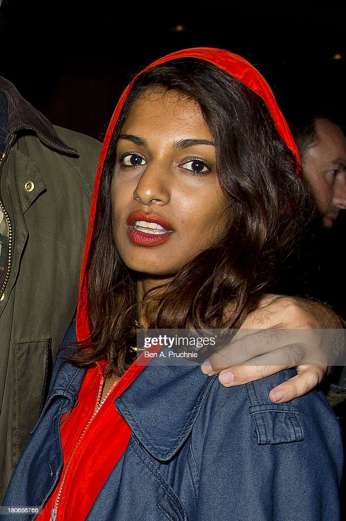 M.I.A attends Paula Goldstein's voyagedetudes.com launch in the Punch Room at The London EDITION on September 15, 2013 in London, England.