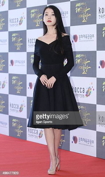 IU attends the 2015 Korean Popular Culture and Arts Awards at National Theater of Korea on October 29 2015 in Seoul South Korea