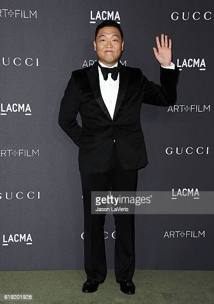 PSY attends the 2016 LACMA Art Film gala at LACMA on October 29 2016 in Los Angeles California