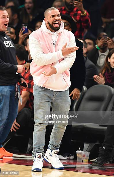 attends the 2016 NBA AllStar Saturday Night at Air Canada Centre on February 13 2016 in Toronto Canada