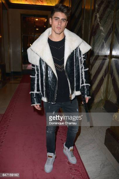 attends the Balmain show as part of the Paris Fashion Week Womenswear Fall/Winter 2017/2018 on March 2 2017 in Paris France