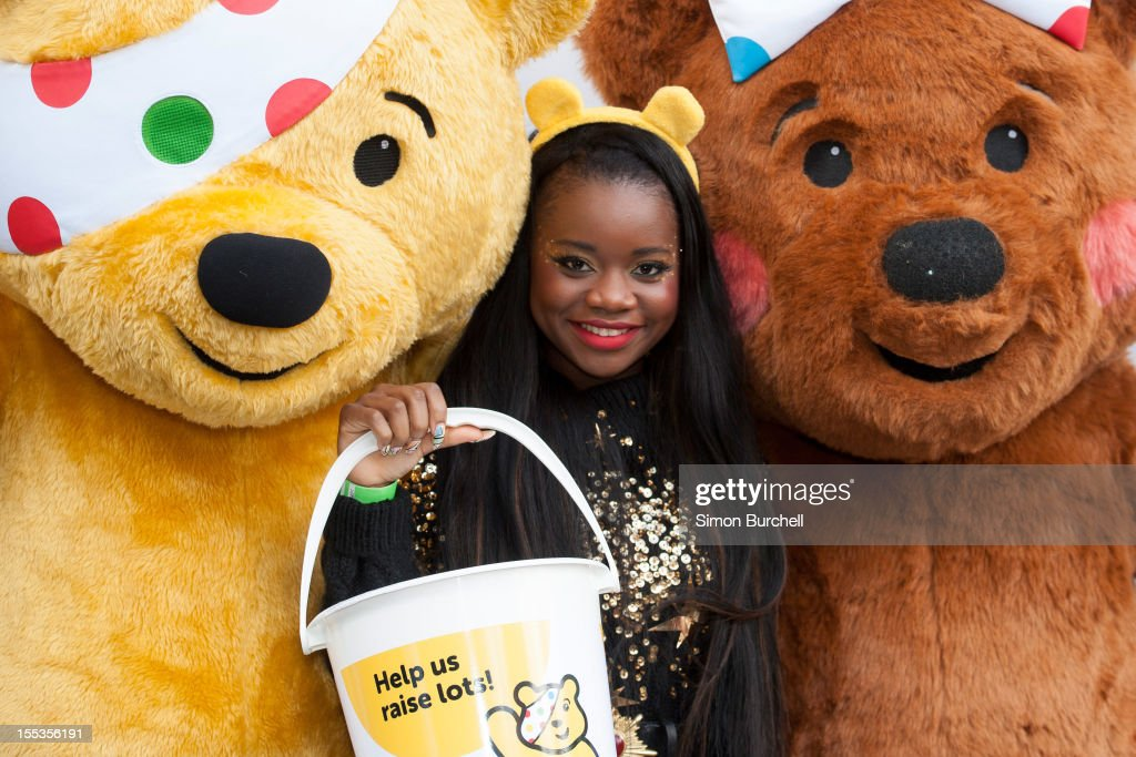 A*M*E attends the BBC Children In Need Pudsey Street event at Covent Garden on November 3, 2012 in London, England.