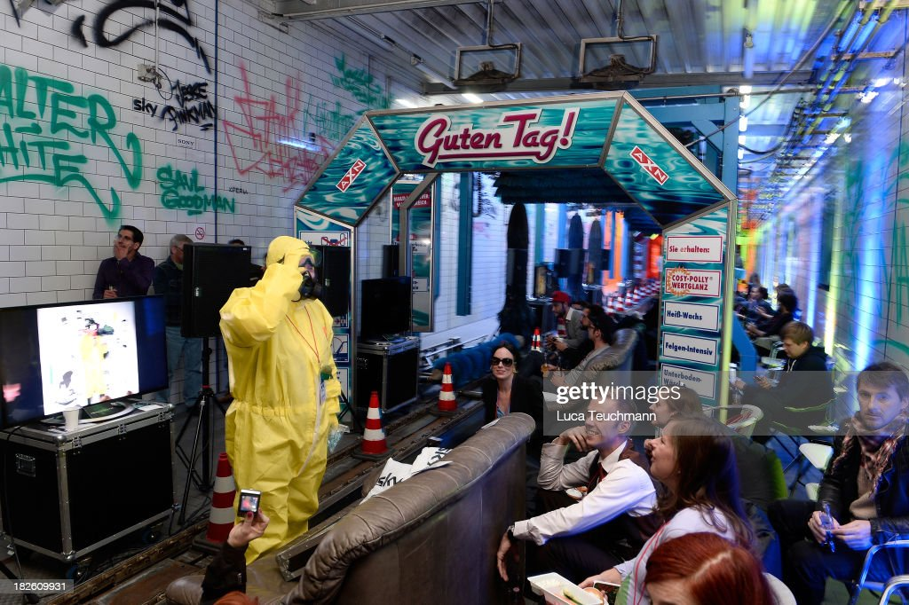 attends the 'Breaking Bad' Screening Party at the Cosy-Wash on October 1, 2013 in Berlin, Germany.
