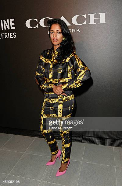 A attends the Coach X Serpentine The Future Contemporaries Party at The Serpentine Sackler Gallery on February 21 2015 in London England