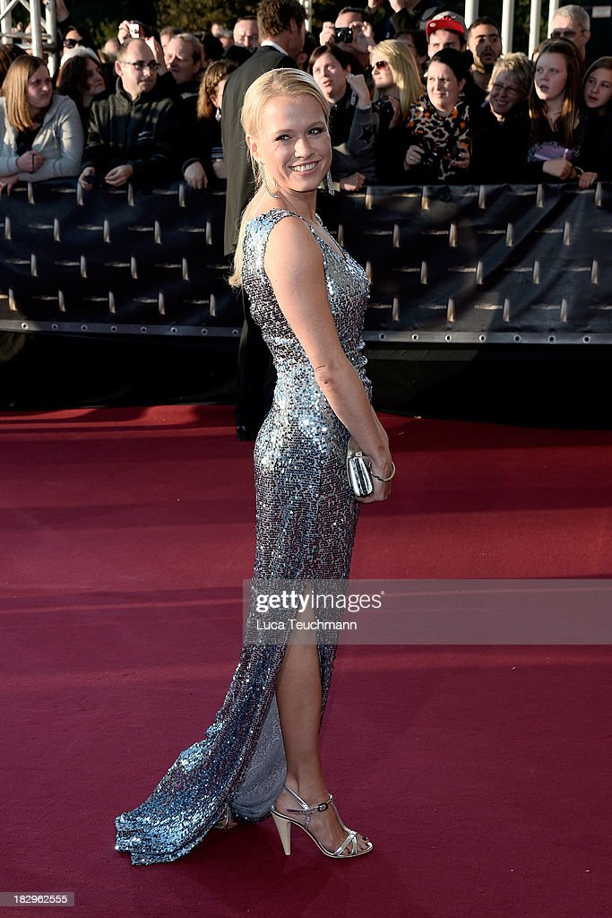 attends the Deutscher Fernsehpreis 2013 at the Coloneum on October 2, 2013 in Cologne, Germany.
