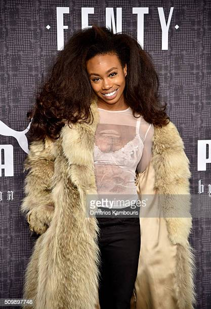 SZA attends the FENTY PUMA by Rihanna AW16 Collection during Fall 2016 New York Fashion Week at 23 Wall Street on February 12 2016 in New York City
