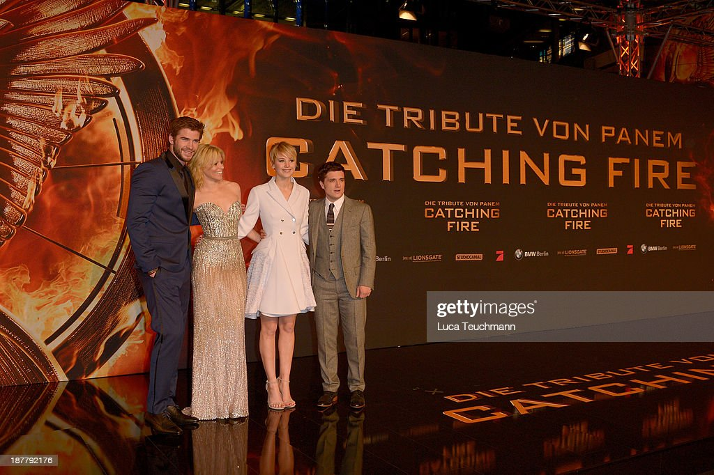 attends the German premiere of the film 'The Hunger Games - Catching Fire' (Tribute von Panem - Catching Fire) at Sony Centre on November 12, 2013 in Berlin, Germany.