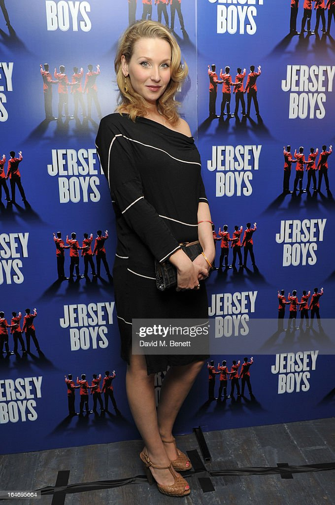 attends the Jersey Boys 5th anniversary performance after party at the Paramount Club on March 26, 2013 in London, England.