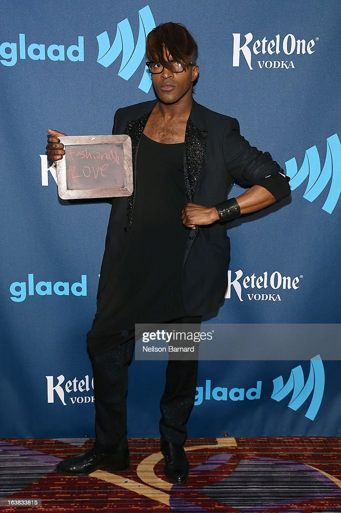 LT attends the Ketel One VIP Red Carpet Suite at the 24th Annual GLAAD Media Awards at the Marriott Marquis on March 16, 2013 in New York.