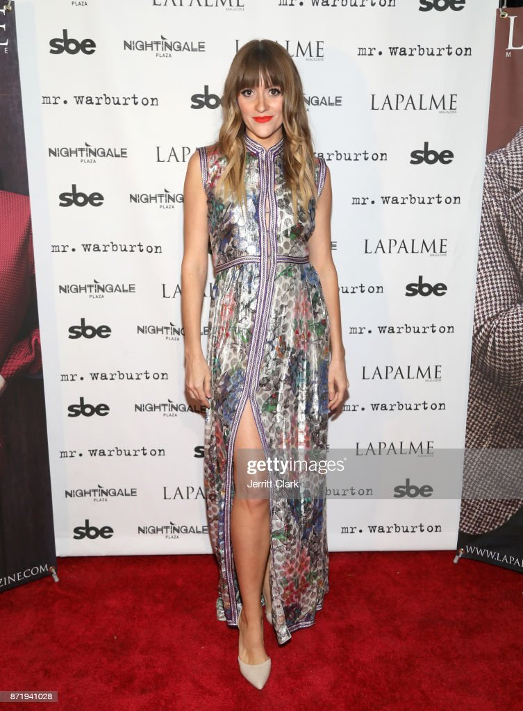 BELLSAINT attends the LaPalme Magazine fall cover party at Nightingale Plaza on November 8, 2017 in Los Angeles, California.
