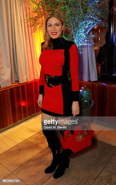 GOLAN attends the launch of The Trafalgar St James in the hotel's spectacular new bar The Rooftop on October 18 2017 in London England