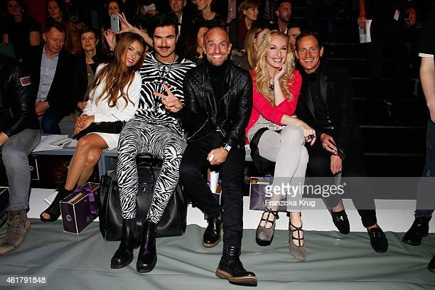 attends the Laurel show during the MercedesBenz Fashion Week Berlin Autumn/Winter 2015/16 at Brandenburg Gate on January 19 2015 in Berlin Germany