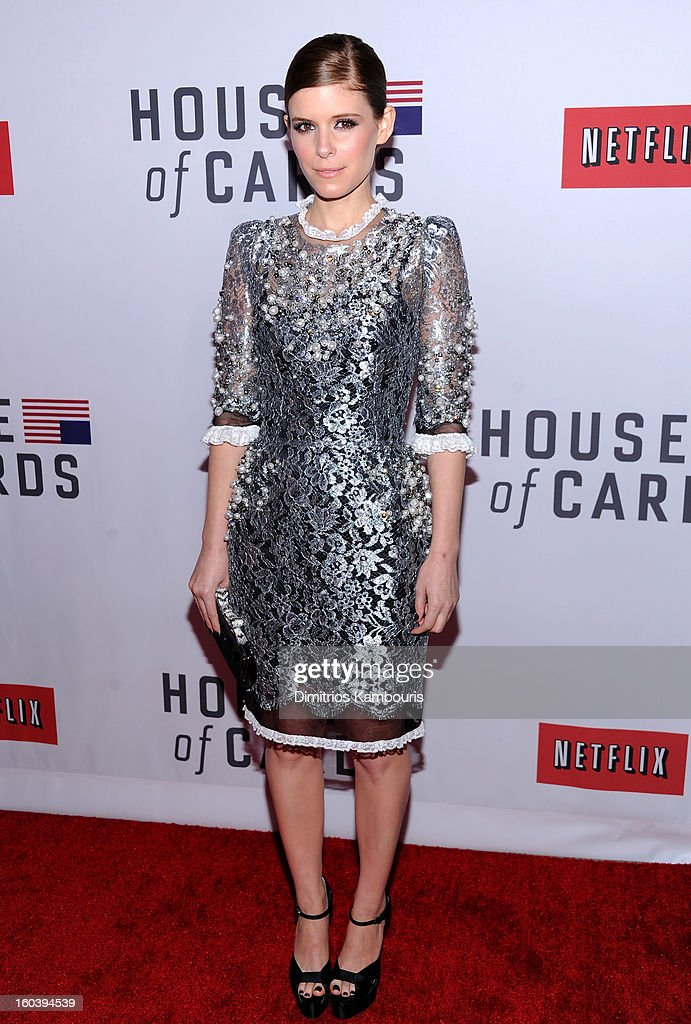 attends the Netflix's 'House Of Cards' New York Premiere at Alice Tully Hall on January 30, 2013 in New York City.