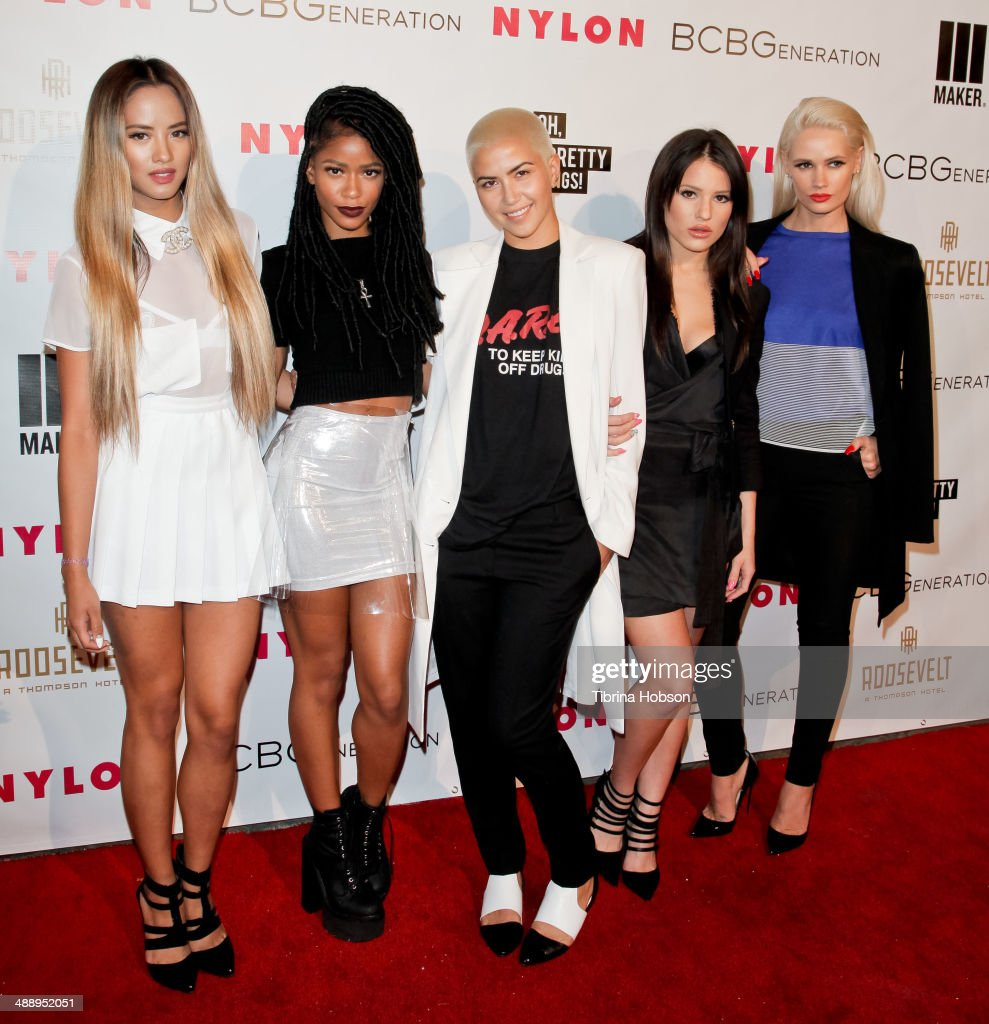 L attends the Nylon Magazine May young Hollywood issue party at Tropicana Bar at The Hollywood Rooselvelt Hotel on May 8, 2014 in Hollywood, California.