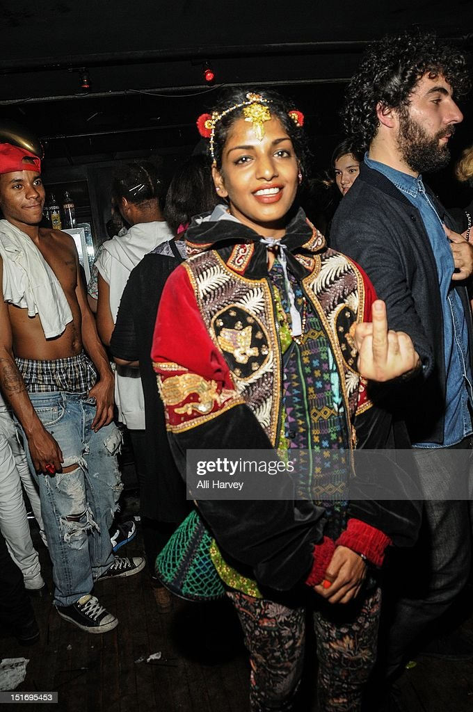 M.I.A. attends the Opening Ceremony Spring/Summer 2013 Fashion Week Party at Webster Hall on September 9, 2012 in New York City.