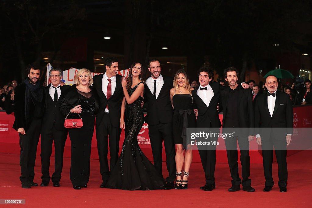 attends the 'Razza Bastarda' Premiere during the 7th Rome Film Festival at the Auditorium Parco Della Musica on November 17, 2012 in Rome, Italy.