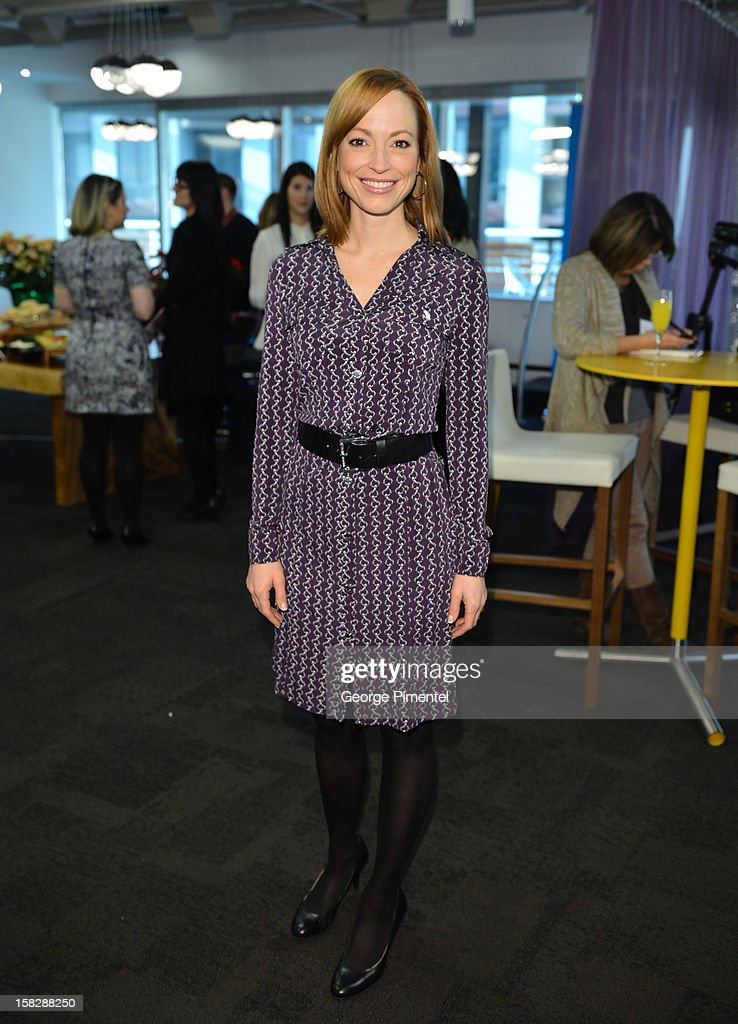 attends the Shaw Media Press Conference held at the Shaw Media Building on December 12, 2012 in Toronto, Canada.