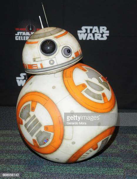 BB8 attends the Star Wars The Last Jedi panel during the 2017 Star Wars Celebration at Orange County Convention Center on April 14 2017 in Orlando...