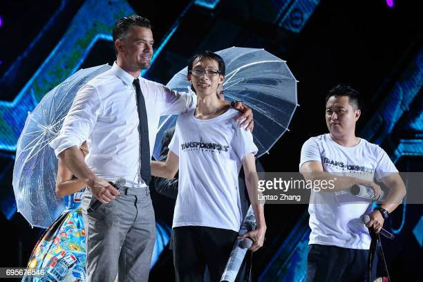 attends the 'Transformers The Last Knight' China World Premiere and Ten Year Anniversary Celebration at Haixinsha Asian Olympic Games Park on June 13...