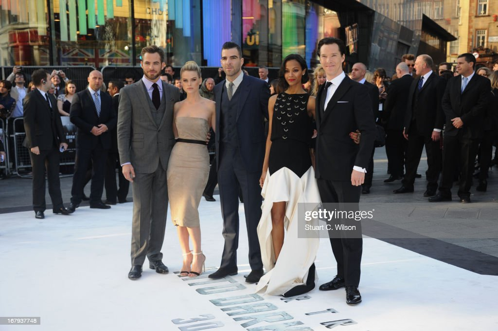 attends the UK Premiere of 'Star Trek Into Darkness' at The Empire Cinema on May 2, 2013 in London, England.
