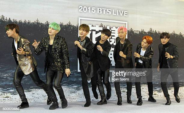 BTS attends their concert press conference at Olympic Park on November 27 2015 in Seoul South Korea