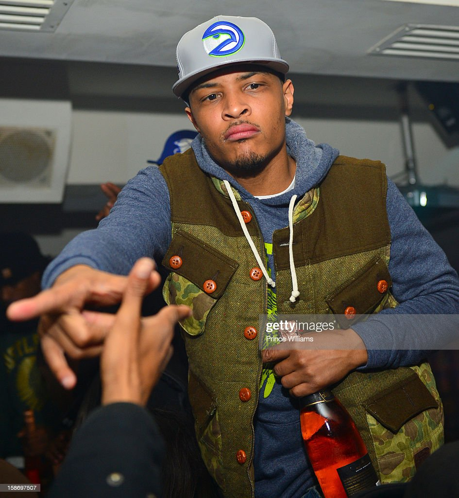 T.I. attends T.I. 'Trouble Man Heavy Is The Head' Album Release Party at Compound on December 22, 2012 in Atlanta, Georgia.