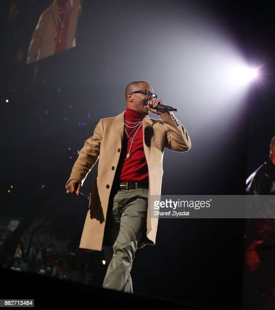 TI attends Tidal X Brooklyn at Barclays Center on October 17 2017 in the Brooklyn borough of New York City New York