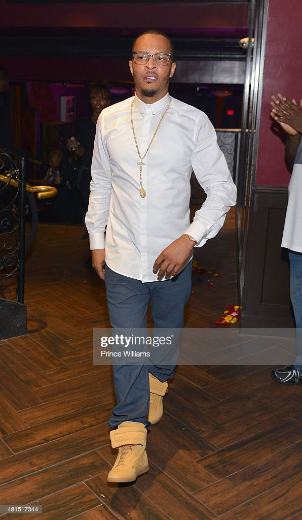 T.I. attends 'Tiny' Tameka Harris Celebrity Birthday Affair at Scales 925 Restaurant on July 14, 2015 in Atlanta, Georgia.