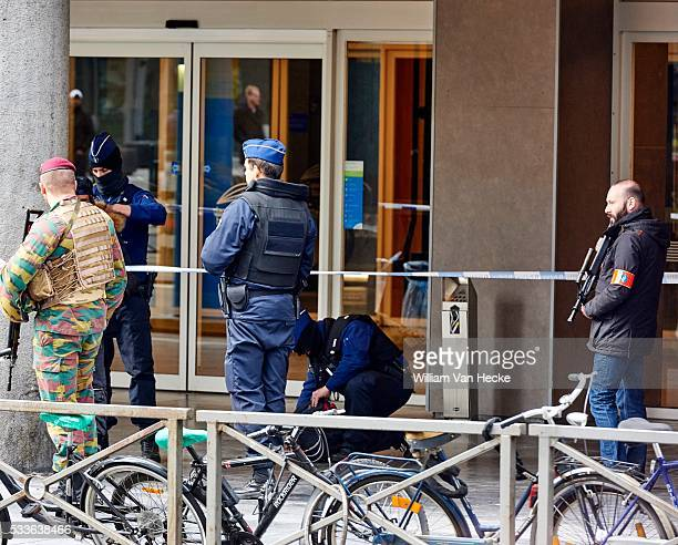 alerte à la Gare du Midi Aanslagen van Brussel alert Zuidstation 22/3/2016 pict by VD © Photo News picture not included in some contracts