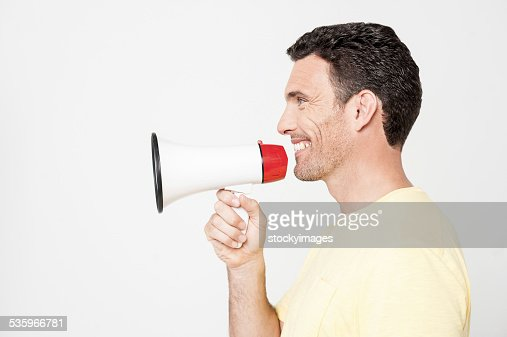 Attention, please listen me ! : Stock Photo