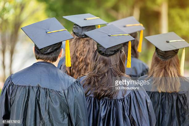 Attentive college students during graduation