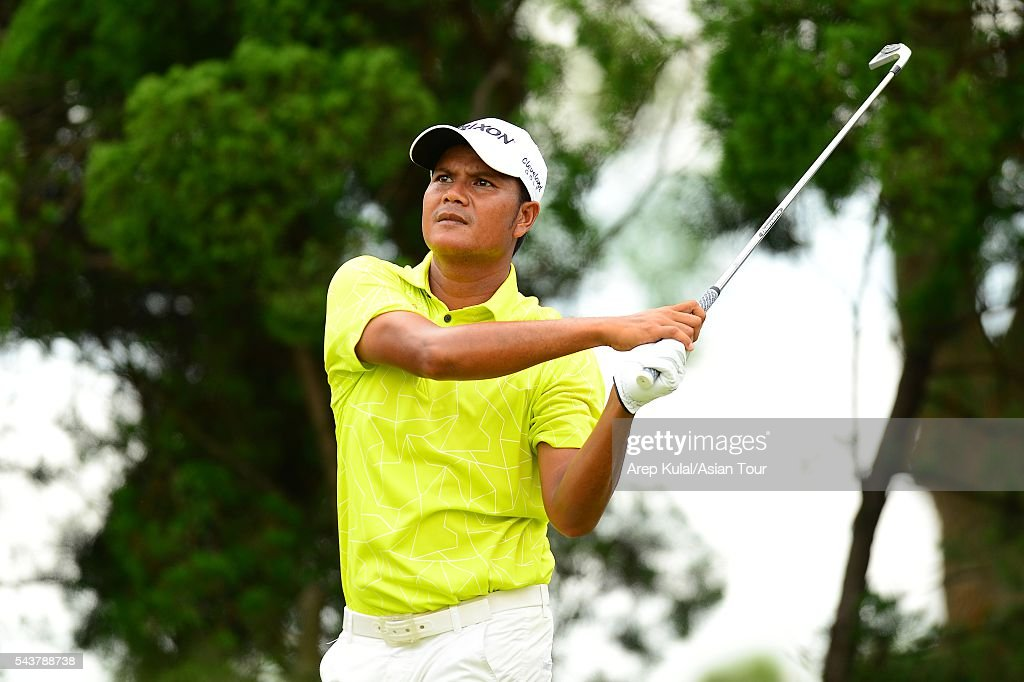Atthaphon Sriboonkaew of Thailand pictured during the round 1 of the Yeangder Tournament Players Championship at Linkou International Golf Club on June 30, 2016 in Taipei, Taiwan.