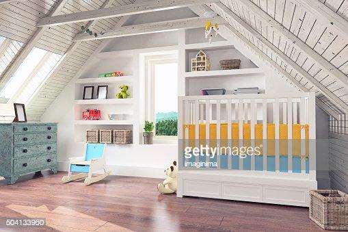 Attic Nursery Interior
