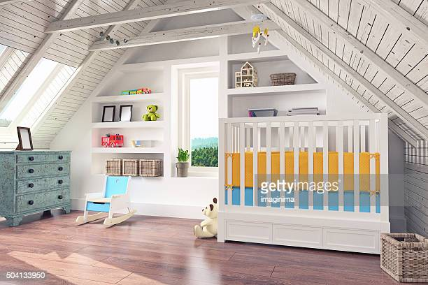 Attic Nursery Interior