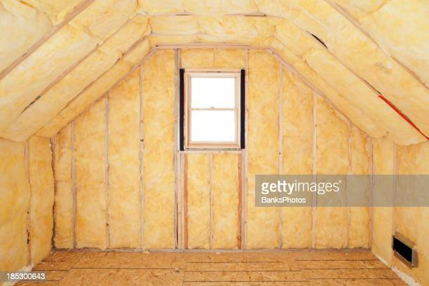 Attic Room Insulation, Frame and Window