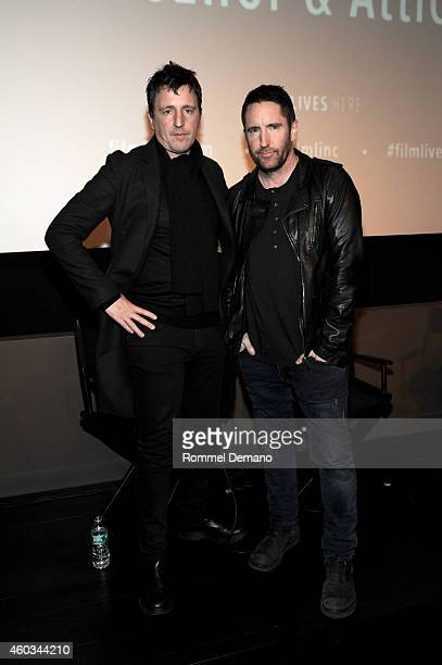 Atticus Ross and Trent Reznor attend the 'Gone Girl' Special Screening at Elinor Bunin Munroe Film Center on December 11 2014 in New York City