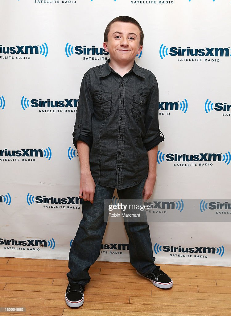 Atticus Shaffer visits SiriusXM Studios on October 23, 2013 in New York City.