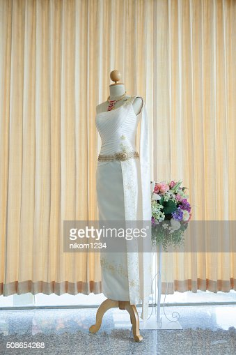 attire lady thailand Thai dress, identity culture of Thailand : Stock Photo