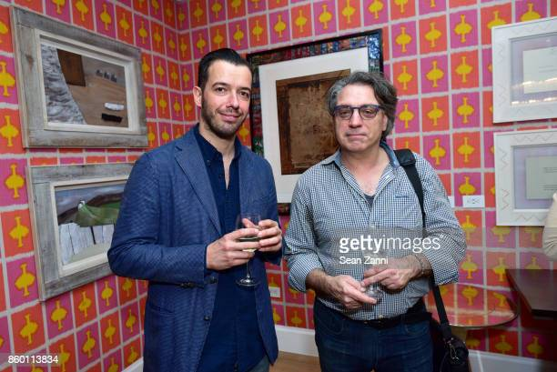 Attore Pardossi and Robert Curcio attend the launch of The Collector Geneva's Sophie Bonvin Code Collection in Collaboration with artist Bill Claps...