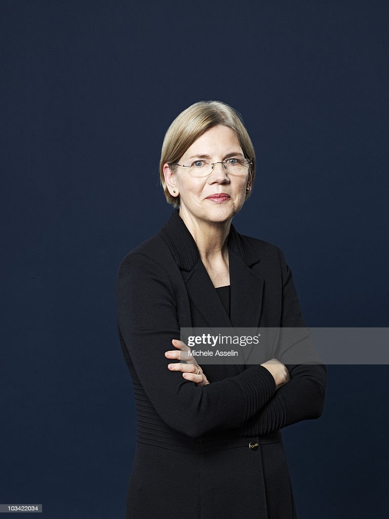 Attorney and Chairperson of the Congressional Oversight Panel <a gi-track='captionPersonalityLinkClicked' href=/galleries/search?phrase=Elizabeth+Warren&family=editorial&specificpeople=5396017 ng-click='$event.stopPropagation()'>Elizabeth Warren</a> poses at a portrait session for Time Magazine in 2010.