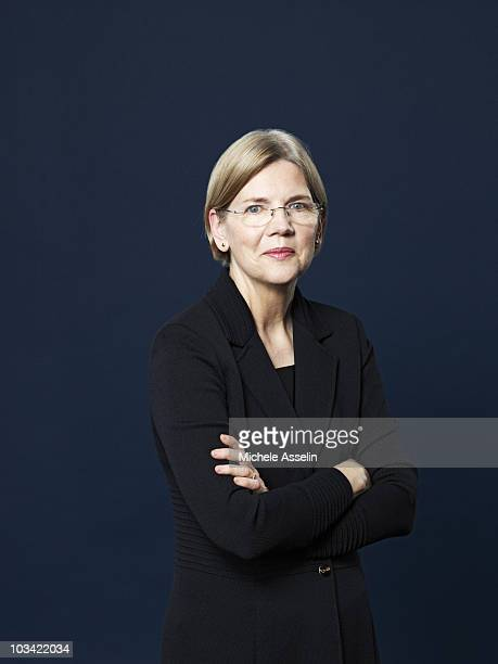 Attorney and Chairperson of the Congressional Oversight Panel Elizabeth Warren poses at a portrait session for Time Magazine in 2010