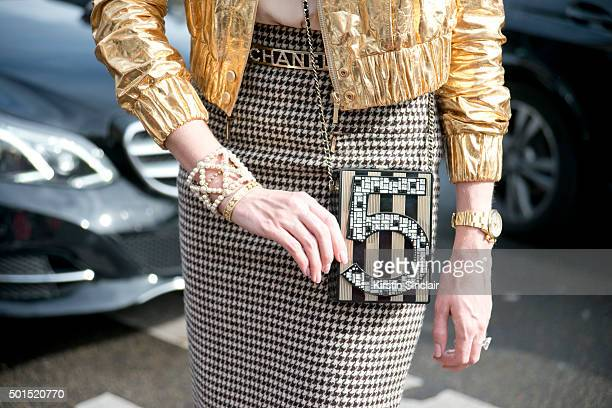 Attorney Author and Blogger Kristin Ducote wears all Chanel on day 8 during Paris Fashion Week Spring/Summer 2016/17 on October 6 2015 in Paris...