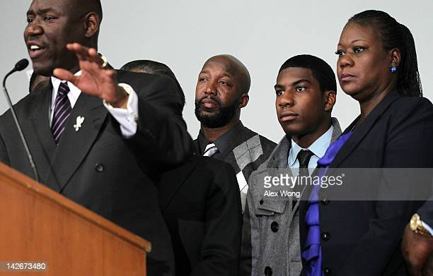 Attorney Benjamin Crump speaks as family of Trayvon Martin who was fatally shot by neighborhood watch captain George Zimmerman in Florida mother...