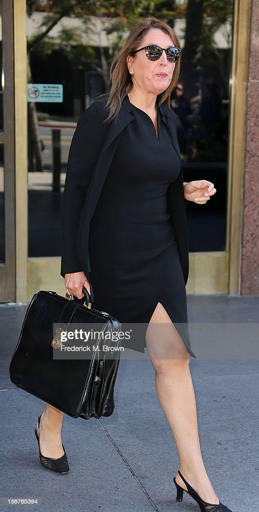 Attorney Blair Burke leaves Los Angeles Superior Court for a lunch break during Ariel Winter guardianship hearing on November 20, 2012 in Los Angeles, California. The hearing is to determine if Winter should continue living under the guardianship of her sister after having been removed from her mother's custody.