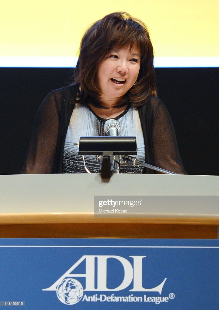 Attorney Debra Wong Yang presents onstage after receiving a Deborah Award at The Anti-Defamation League Deborah Awards at the Skirball Cultural Center on April 26, 2012 in Los Angeles, California.
