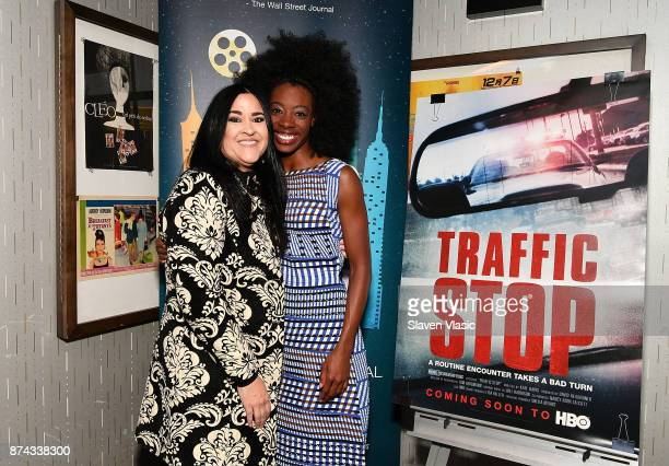 Attorney Erica Grigg and Breaion King the subject of documentary attend DOC NYC Premiere of the HBO documentary film 'Traffic Stop' at IFC Center on...