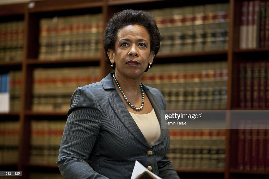 U.S. Attorney for the Eastern District of New York <a gi-track='captionPersonalityLinkClicked' href=/galleries/search?phrase=Loretta+Lynch&family=editorial&specificpeople=4351972 ng-click='$event.stopPropagation()'>Loretta Lynch</a> arrives for a news conference to announce money laundering charges against HSBC on December 11, 2012 in the Brooklyn borough of New York City. HSBC Holdings plc and HSBC USA NA have agreed to pay $1.92 billion and enter into a deferred prosecution agreement with the U.S. Department of Justice in regards to charges involving money laundering with Mexican drug cartels.