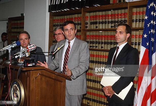 US Attorney for the Southern District of New York Rudolph Giuliani and Louis Freeh Assistant US Attorney and lead prosecutor in the 'Pizza Connection...