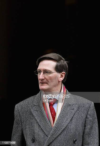 Attorney General Dominic Grieve leaves Downing Street after attending a Cabinet meeting on March 22 2011 in London England Britain has increased its...