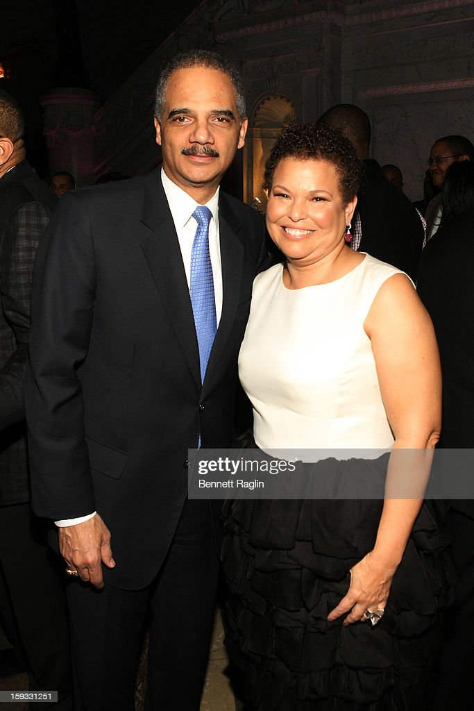 U.S. Attorney General <a gi-track='captionPersonalityLinkClicked' href=/galleries/search?phrase=Eric+Holder&family=editorial&specificpeople=1060367 ng-click='$event.stopPropagation()'>Eric Holder</a> and Debra Lee attend BET Honors 2013: Debra Lee Pre-Dinner at The Library of Congress on January 11, 2013 in Washington, DC.